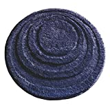 Dorm Rugs mDesign Round Microfiber Non-Slip Bathroom Mat/Rug for Bathroom, Vanity, Bathtub/Shower, Dorm Room  24