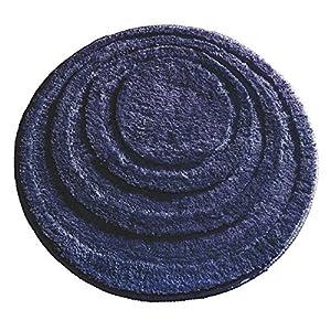 interdesign microfiber round bathroom shower accent rug 24 navy blue home kitchen. Black Bedroom Furniture Sets. Home Design Ideas
