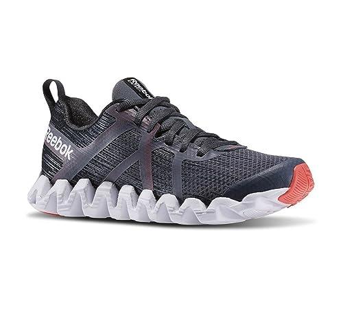 finest selection c77eb ff940 Reebok Zigtech Squared 2.0 Womens Running Shoe 5 Gravel-Graphite-Neon  Cherry-White