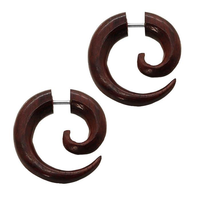 2 Finto Espirales Estensor falso piercing oreja fakeplug dilatador ...