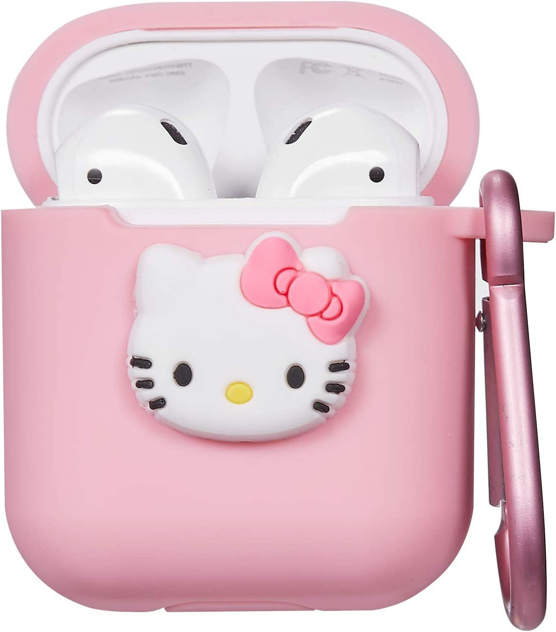 Amazon Com Logee Kitty Hello Cat Case For Airpods 1 2 Charging