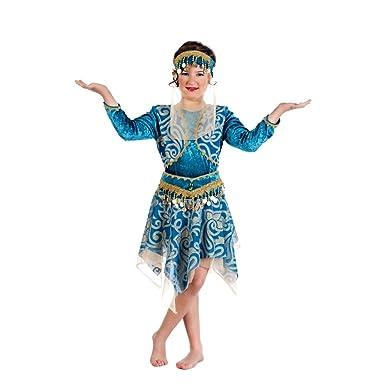 1001 Nacht Tänzerin Orient Prinzessin Kinder Kostüm türkis 4