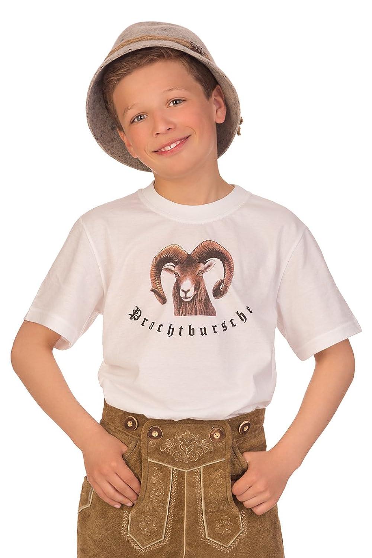 Trachten Kinder Fun Shirt - PRACHTBURSCHE - weiß