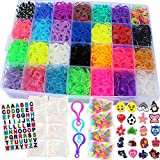 11,750+ Authentic Rainbow Mega Refill Loom by Talented Kidz: 10,750 Premium Quality Rubber Bands, 30 Charms, 250 Beads, ABC Stickers to Personalize Your Case, 600 Clips, 3 Backpack Hooks, Organizer