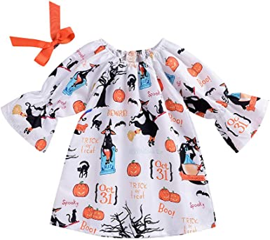 KONFA Teen Baby Girls Floral Stripes Print Dress,Suit for 2-7 Years Old,Little Princess Long Sleeve Casual Skirt Clothing Set