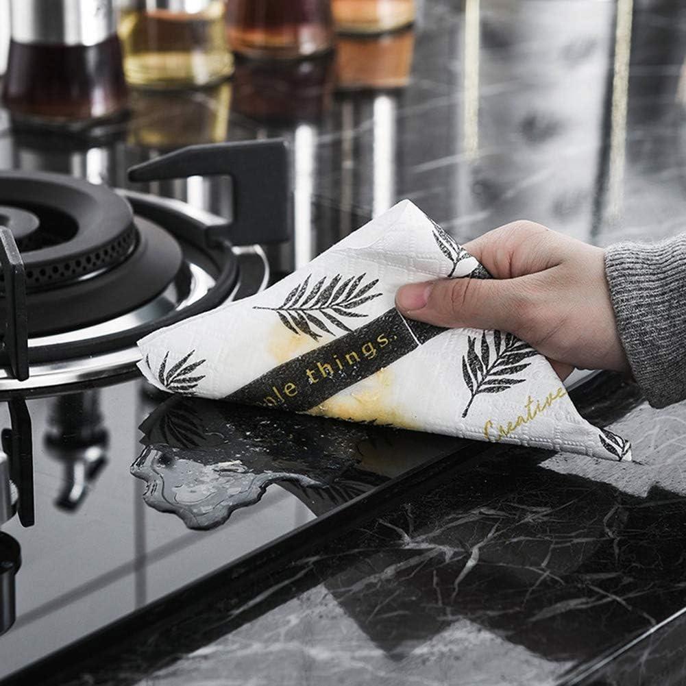 lzndeal Papier /à Vaisselle Style Nordique torchon de Cuisine Absorbant lhuile torchon Chiffon r/éutilisable essuie-Tout