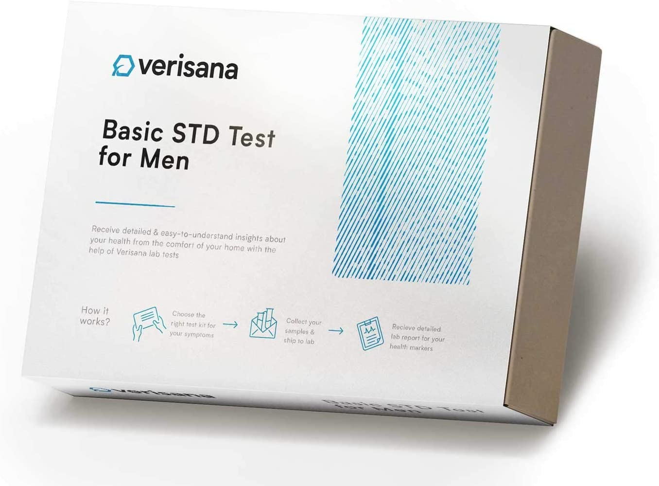 Essential STD Test for Men and Women – Check for Chlamydia, Gonorrhea & Trichomoniasis – Discrete, Private & CLIA-Certified Laboratory Analysis – Home Testing Kit – Verisana