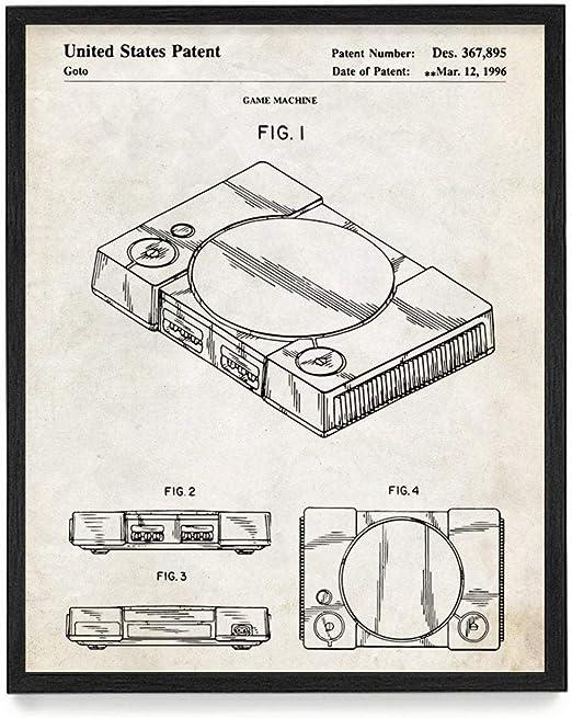 Unframed PS1 1996 Patent Print Poster Decor Art Gift