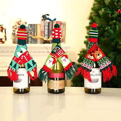 Amazon.com: OOCC - Juego de 3 fundas para botellas de vino ...