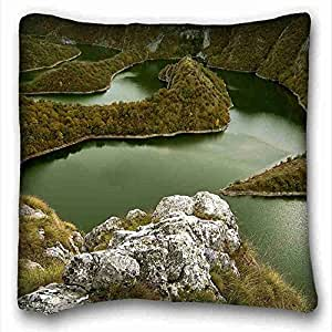 """Custom Cotton & Polyester Soft Nature DIY Pillow Cover Size 16""""X16"""" suitable for Twin-bed"""