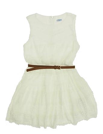 909b334e3595f mayoral 28-06946-071 - Robe Dentelle pour Fille 16 Ans Ecru  Amazon.fr   Vêtements et accessoires