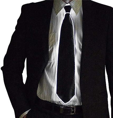 Julyfun School Boy Fancy Dress Tie Light Up Hombre LED Luminous ...