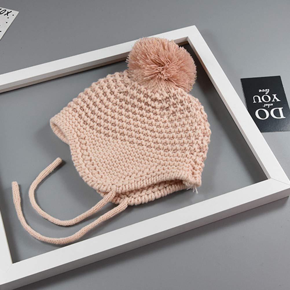 ae064f77400cf Fenical Ensembles écharpe bonnet tricoté laine chaude bébé ensemble grosse  tête et boule: Amazon.fr: Vêtements et accessoires