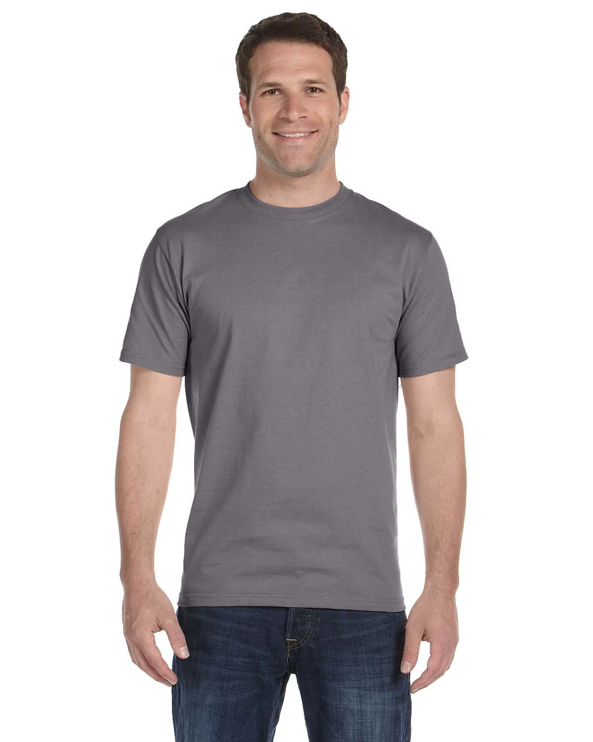 Hanes Men's Short Sleeve Beefy T-Shirt (Graphite, XX-Large) by Hanes