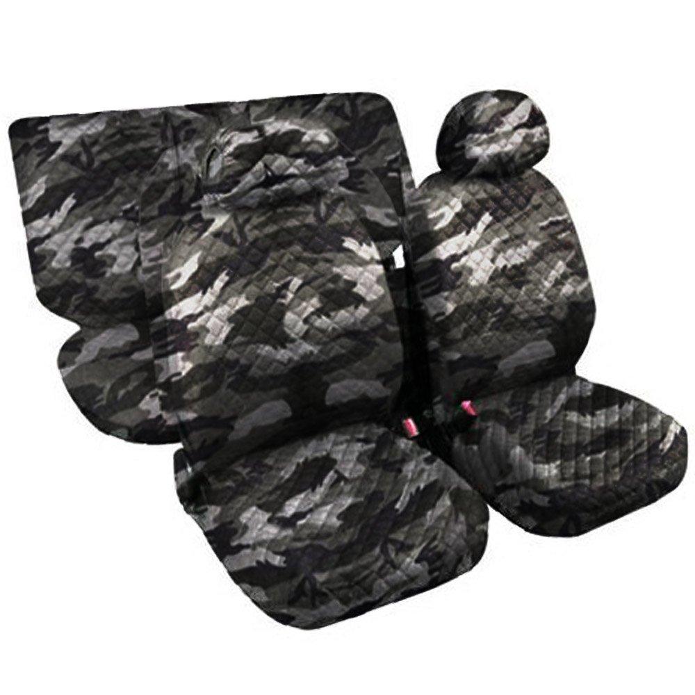 Lupex Shop Trap_Mch - Fundas para Asientos de Coche, Acolchadas, diseñ o de Camuflaje Claro (6 Unidades) diseño de Camuflaje Claro (6 Unidades)