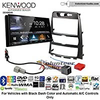 Volunteer Audio Kenwood DDX9904S Double Din Radio Install Kit with Apple CarPlay Android Auto Bluetooth Fits 2009-2012 Hyundai Genesis (Black) (Automatic A/C Controls)