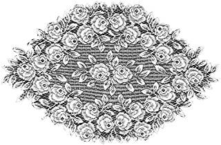product image for Heritage Lace Tea Rose 14-Inch by 24-Inch Doily, Ecru, Set of 2