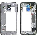Mycrostar Coque centrale pour Samsung Galaxy S5 G900 et G900F, Argent