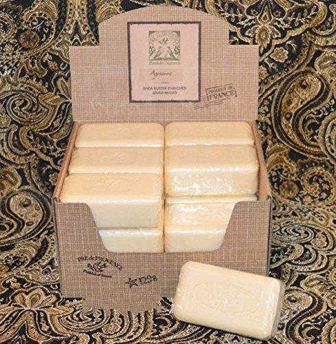 (Case of 18 Pre de Provence Agrumes (Citrus Fruits) 150 gram shea butter large soap bars)
