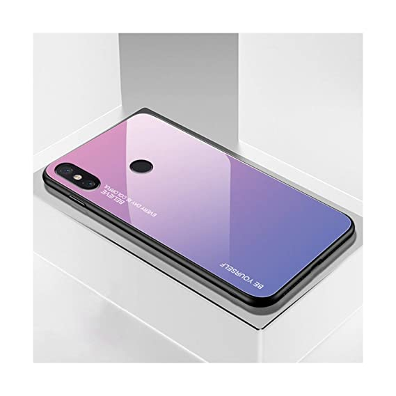 22e543878a8 Image Unavailable. Image not available for. Color: Gradient Tempered Glass Case  for Xiaomi Redmi Note 5 6 ...