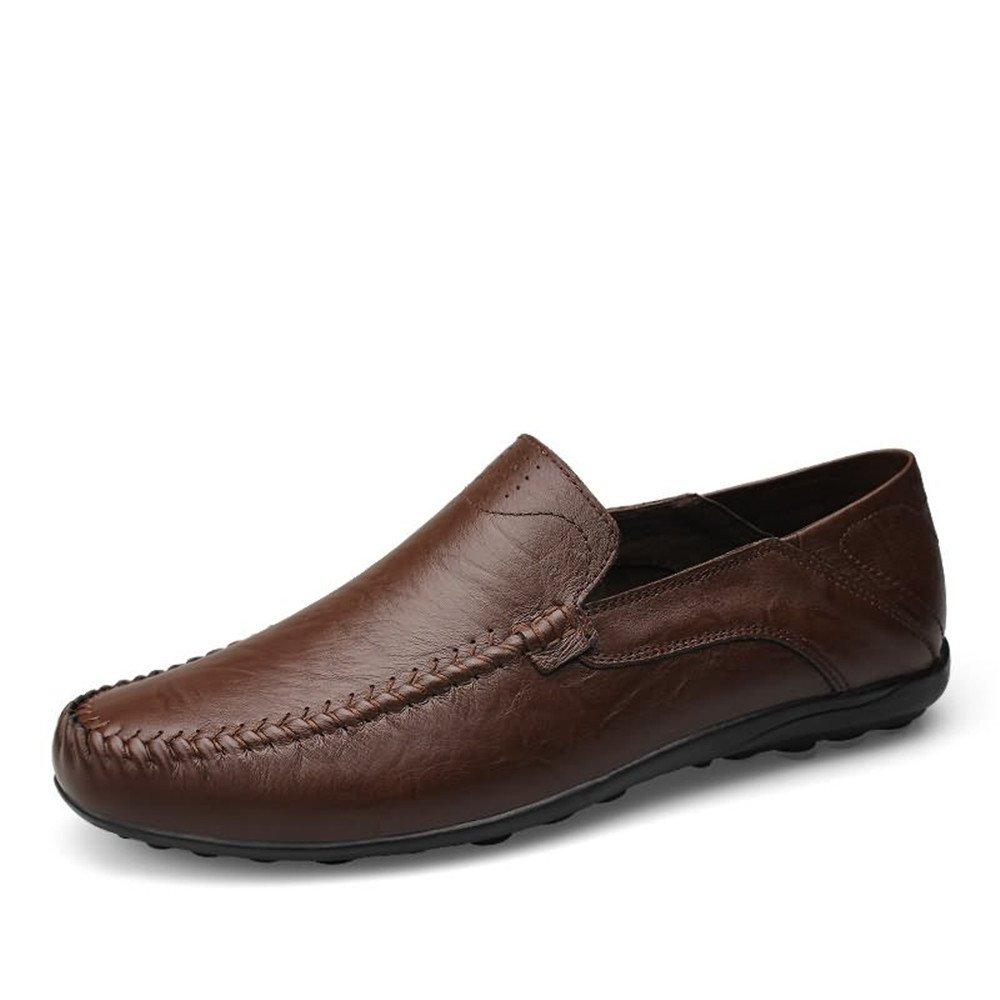 Shufang-Shoes, Mocasines de Papel para Hombre 46 EU|Marron Oscuro