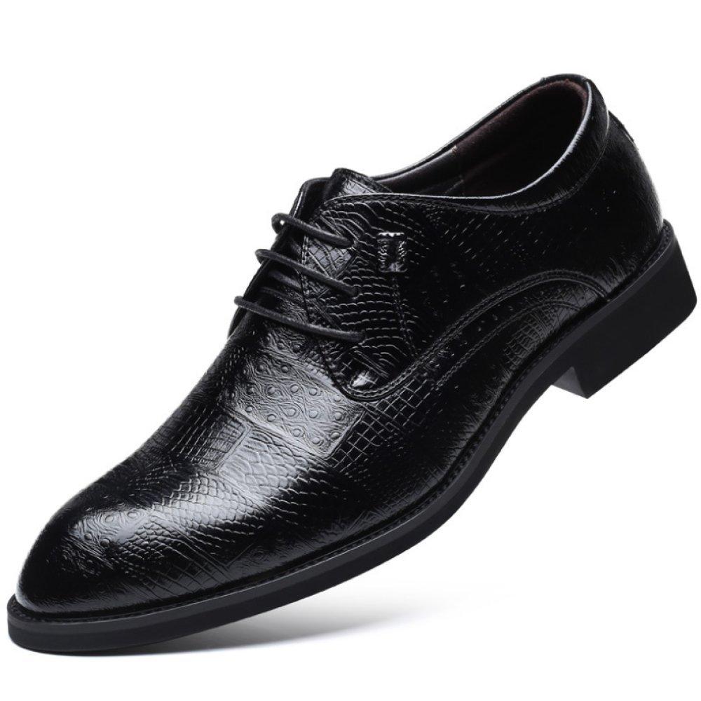 LEDLFIE Männer Krokodil Business Muster Lederschuhe Formelle Kleidung Business Krokodil Herrenschuhe Fashion Lace f5f664