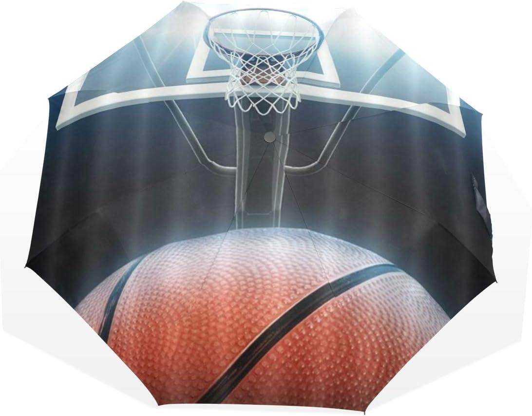 LASINSU Paraguas Resistente a la Intemperie,protección UV,Cancha de básquetbol Cubierta Net American Sports Game Theme