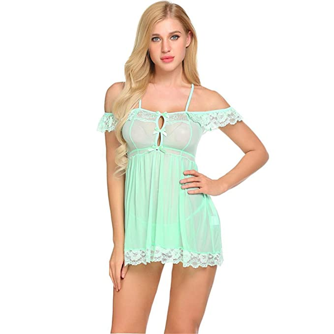 19d653751 Amazon.com  Teddy Underwear Lace Babydoll