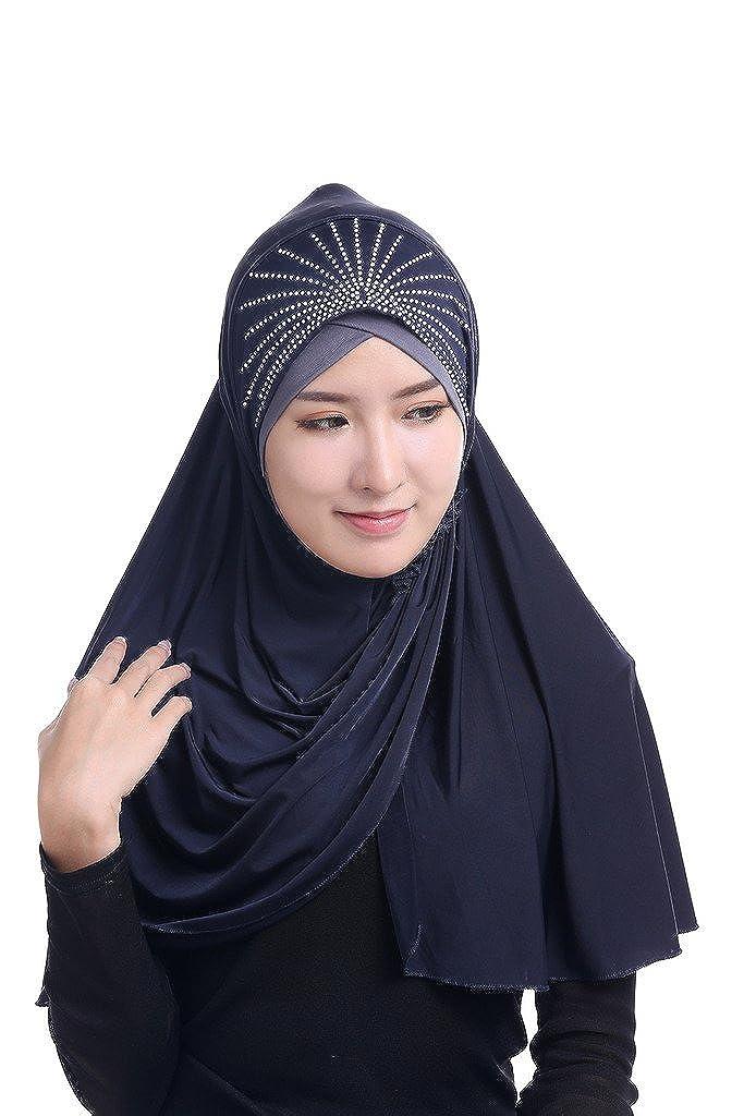 Bmeigo Mujer musulmán Full Cover Head Shawl Islamic Arab Hijab Turban Pañuelo: Amazon.es: Ropa y accesorios