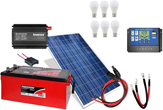 Kit Gerador de Energia Solar 150Wp