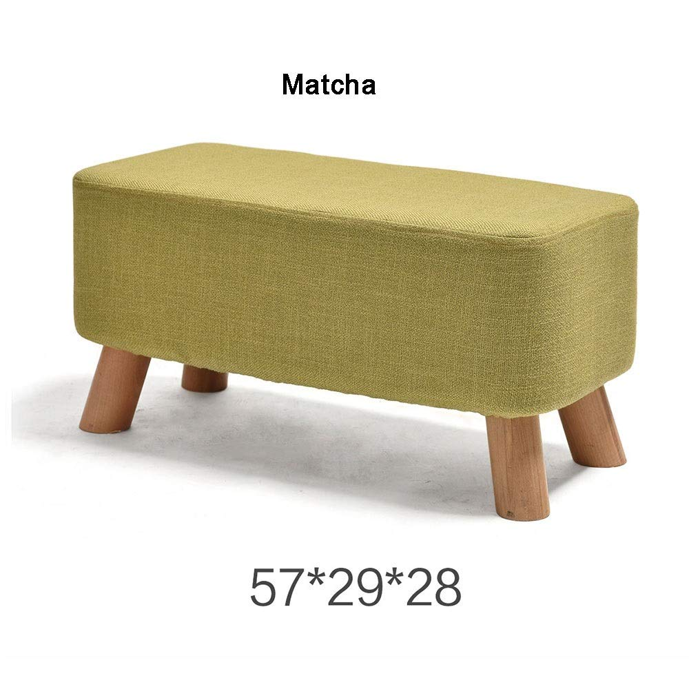 Matcha 572928 cm XRXY Footstool, Foyer Change shoes Bench, Clothing Store Footstool, Cloth Sofa Stool, for Living Room,Bedroom (color   Matcha, Size   57  29  28 cm)