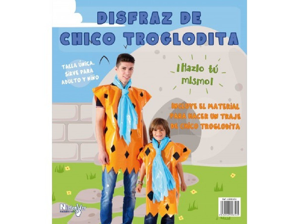 Niefenver 1500101 - Disfraz Bolsa Plástico Troglodita Hombre ...