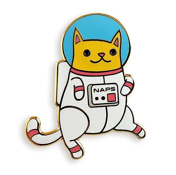 Astronaut cat enamel pin