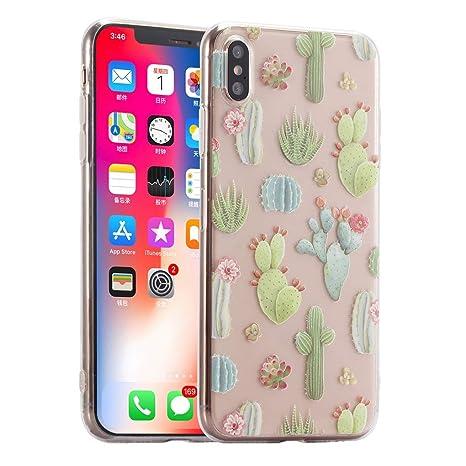 coque iphone xr transparente cactus