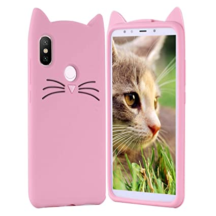 HopMore Gato Funda para Huawei P Smart Plus (P Smart+) Silicona Motivo 3D Divertidas TPU Kawaii Carcasa Huawei P Smart Plus Ultrafina Slim Case ...