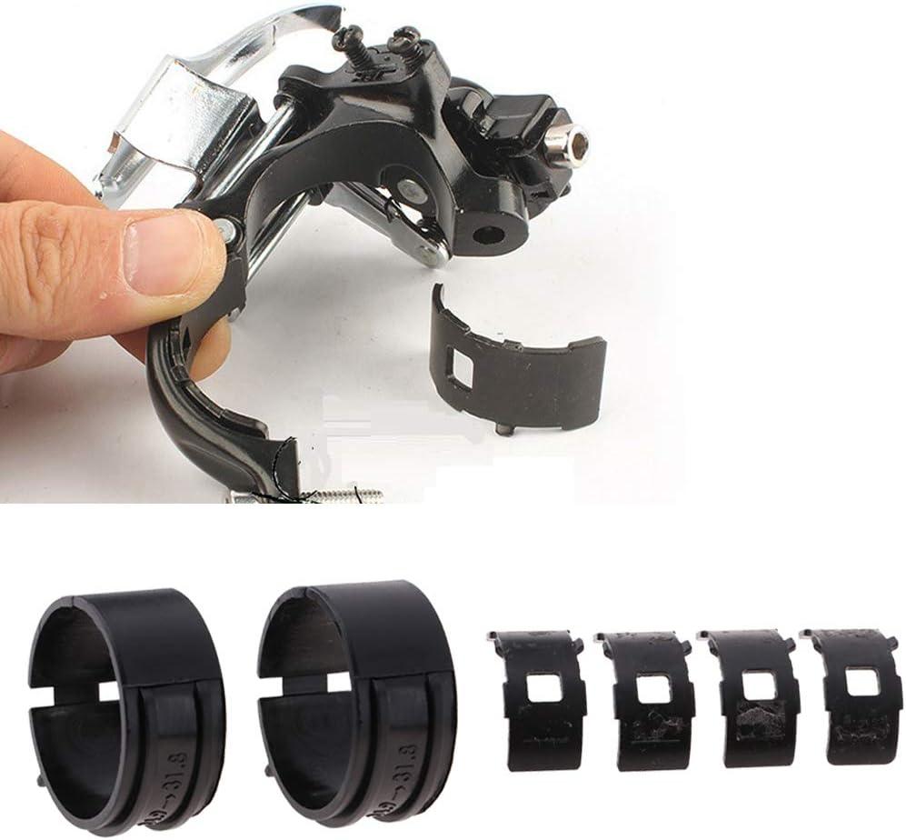 2 Paar Fahrrad-Umwerfer-Klemmadapter Reduzierstück 34,9 bis 31,8 mm
