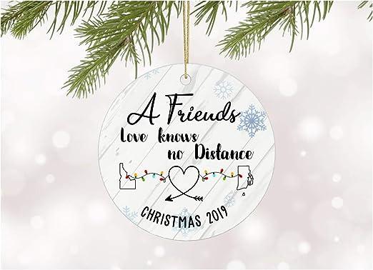Amazon.com: Long Distance Christmas Ornament 2020 Any State Idaho