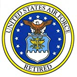usaf decals - United States Air Force Retired Car Decal US Military Gifts USAF Products
