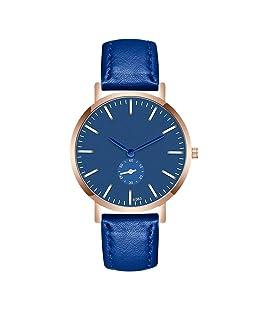 Fashion Man Crystal Leather Analog Quartz Wrist Watch