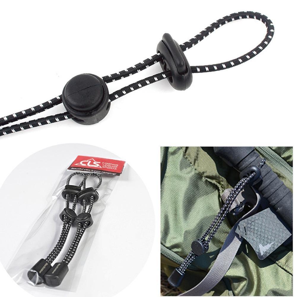 Rungao 2pcs Outdoor Sac à dos alpinisme Porte-canne Corde Clip équipement fixe Sling élastique Queue Corde Boucle