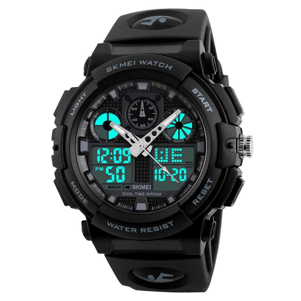 SKMEI Quartz Movement Analogue-Digital Multi-Functional Black Dial Men's Sports Watch (B07GJKK3JW) Amazon Price History, Amazon Price Tracker