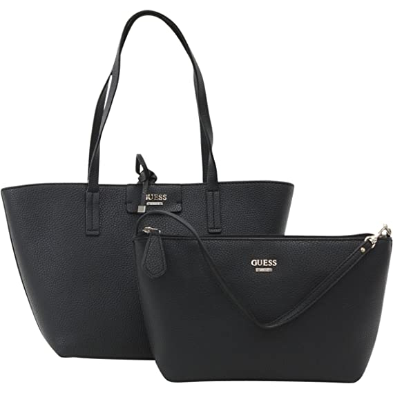 ac7259d4e Amazon.com: GUESS Women's Bobbi Inside Out Tote Black Multi One Size: Shoes