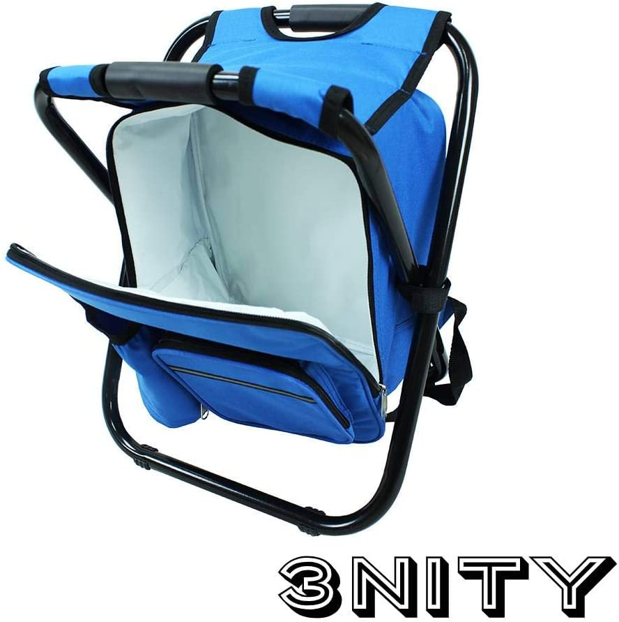 Festivals,Picnics Camping Beach,Travel Folding Camping Chair Ultralight Backpack Cooler Perfect for Outdoor Activities Fishing 3NITY Backpack Cooler and Stool Hunting