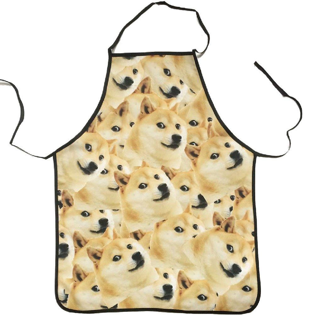 UPKOCH Grembiule da cucina Grembiule da cuoco Grembiule da cuoco Grembiule da barbecue Grembiule da barbecue Costume Doge