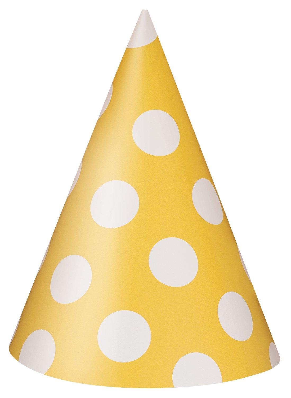 Unique Party Supplies Partyhüte mit Pünktchen, 8Stück 8Stück 60395