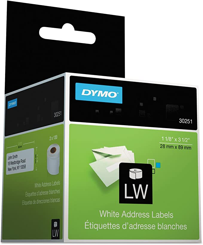 Dymo 99012R Removable Compatible Thermal White Address Labels Pack of 1