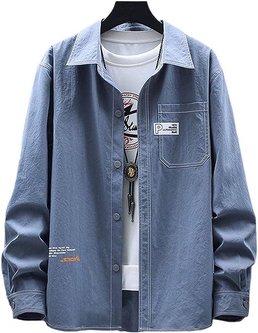 [クーパーアンドコー]4カラー M~2XL 大人 お洒落 羽織り ワンポイント ロゴ 胸ポケット付き ゆったり 大きめ シャツ