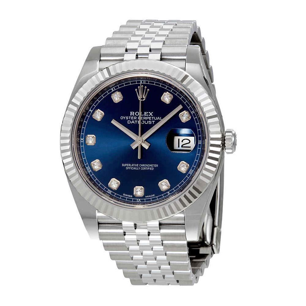 7caa3cc61f0 Rolex Datejust Diamant Bleu Cadran automatique montre de jubilé pour homme  126334bldj  Amazon.fr  Montres