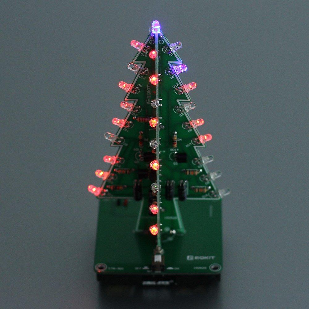 Amazon.com: Icstation DIY 3D Christmas Tree Assemble Kit with 7 ...