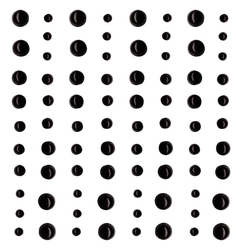 Artemio/ 10/x 0,3/x 12,5/cm Nero /Set di 80/Perle adesive Plastica